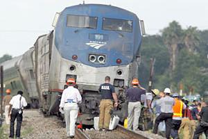 Amtrak Train Slices Car in Half in Jacksonville